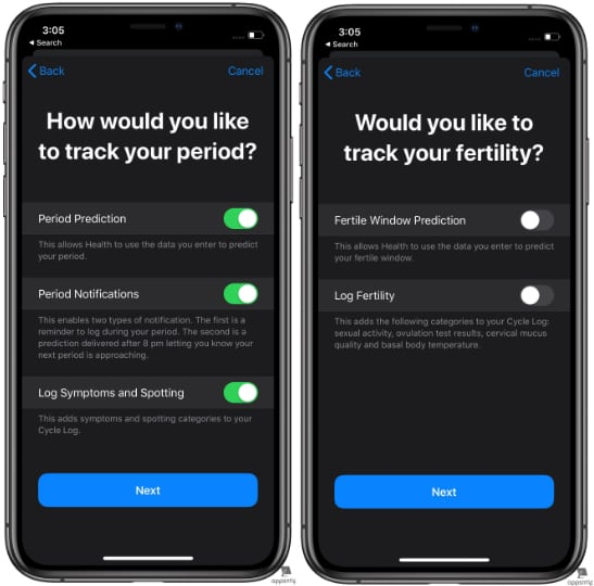 Steps to Set up Period Tracking in Apple Health in iOS 13 - 5