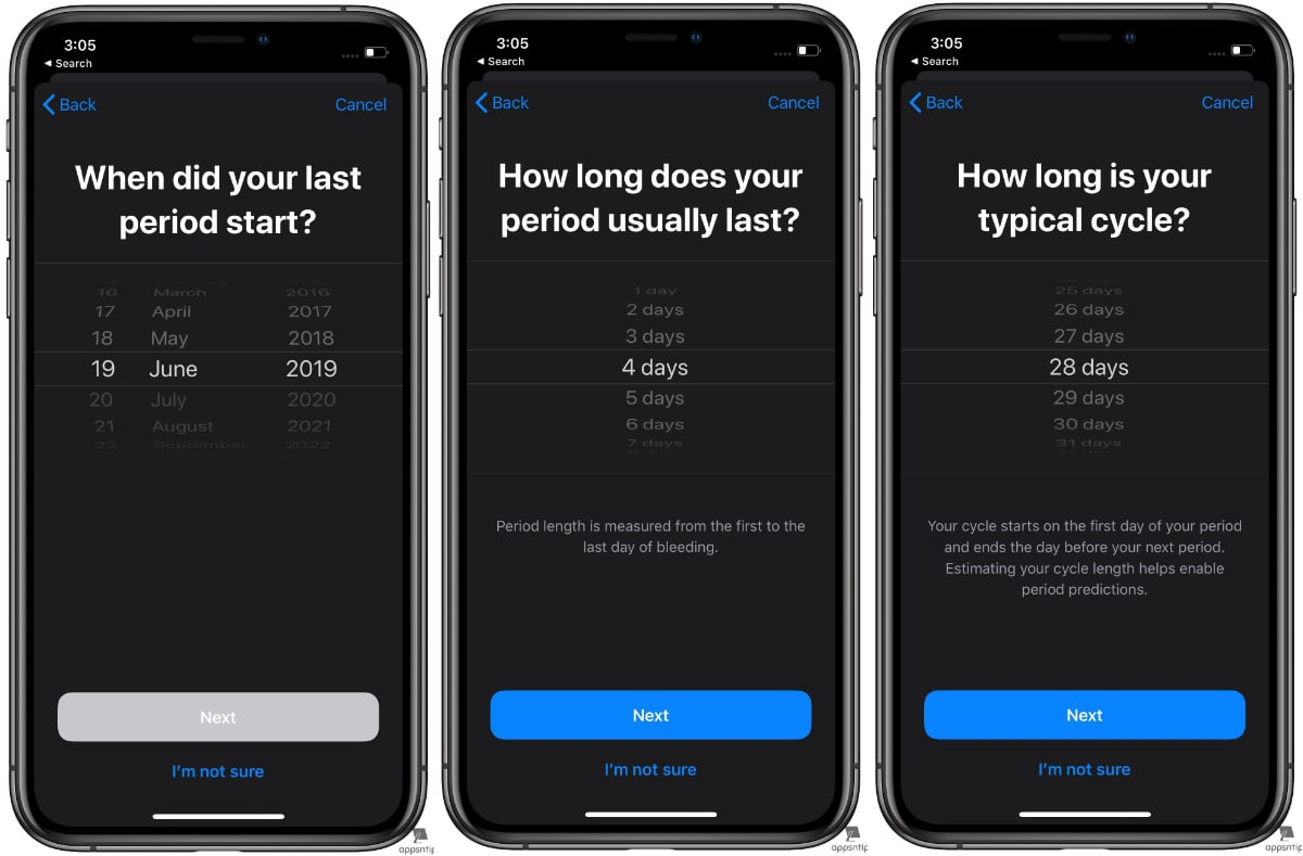 Steps to Set up Period Tracking in Apple Health in iOS 13 - 4