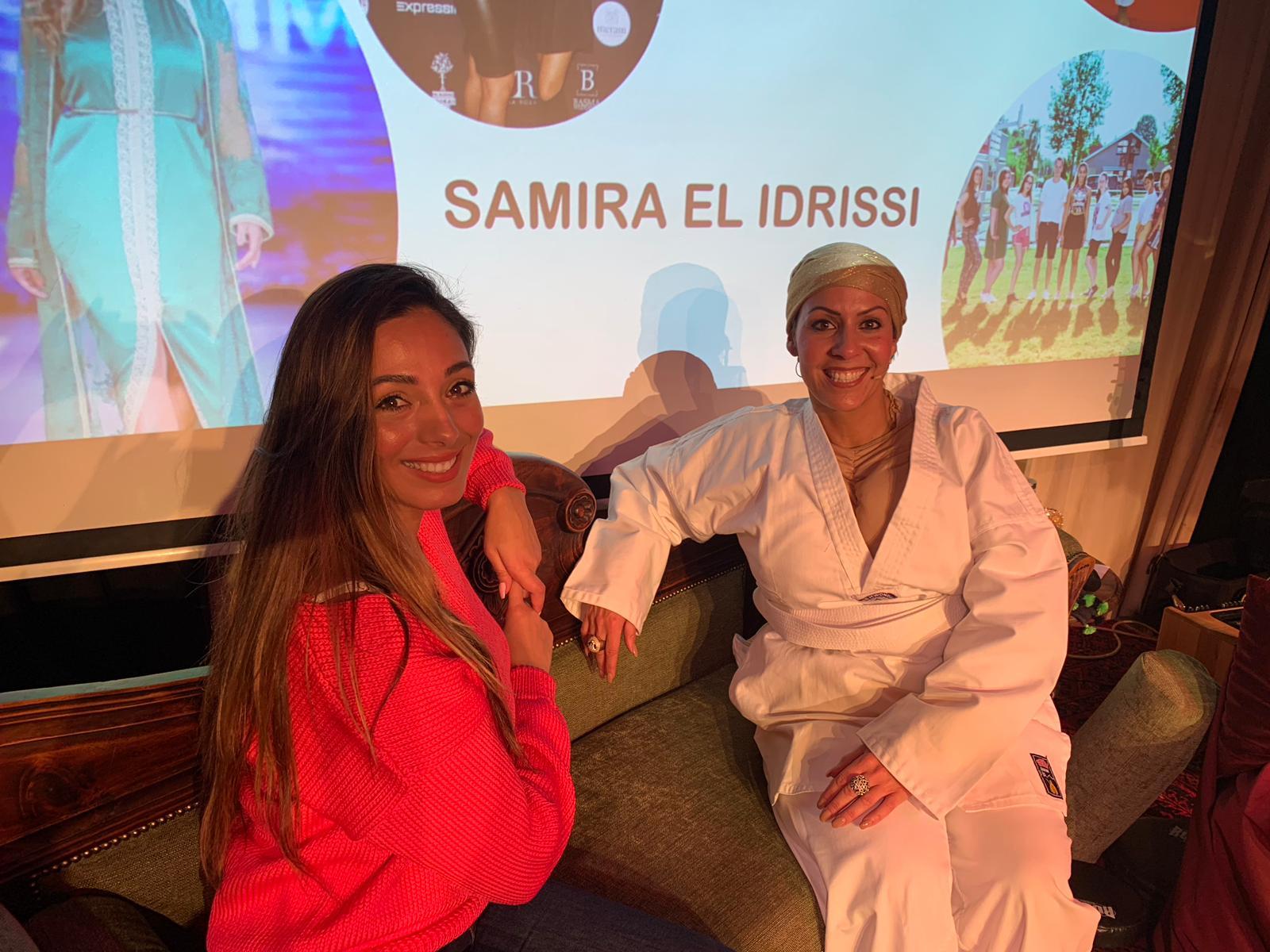 Op de bank met drievoudig Wereld kampioen  Samira El Idrissi
