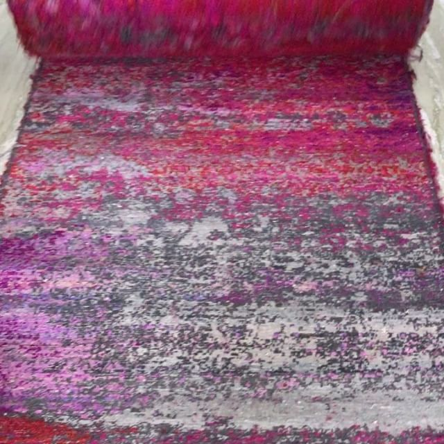 So in Love with this heavenly pink cocktail of sari silk. Can you believe this is only the back? I can't!!!! #organiclooms #buylocal #scottsdale #chicago #denver #color  #pink #hotpink #silk #custommade #handmade #jaipur #india #craftedgoods