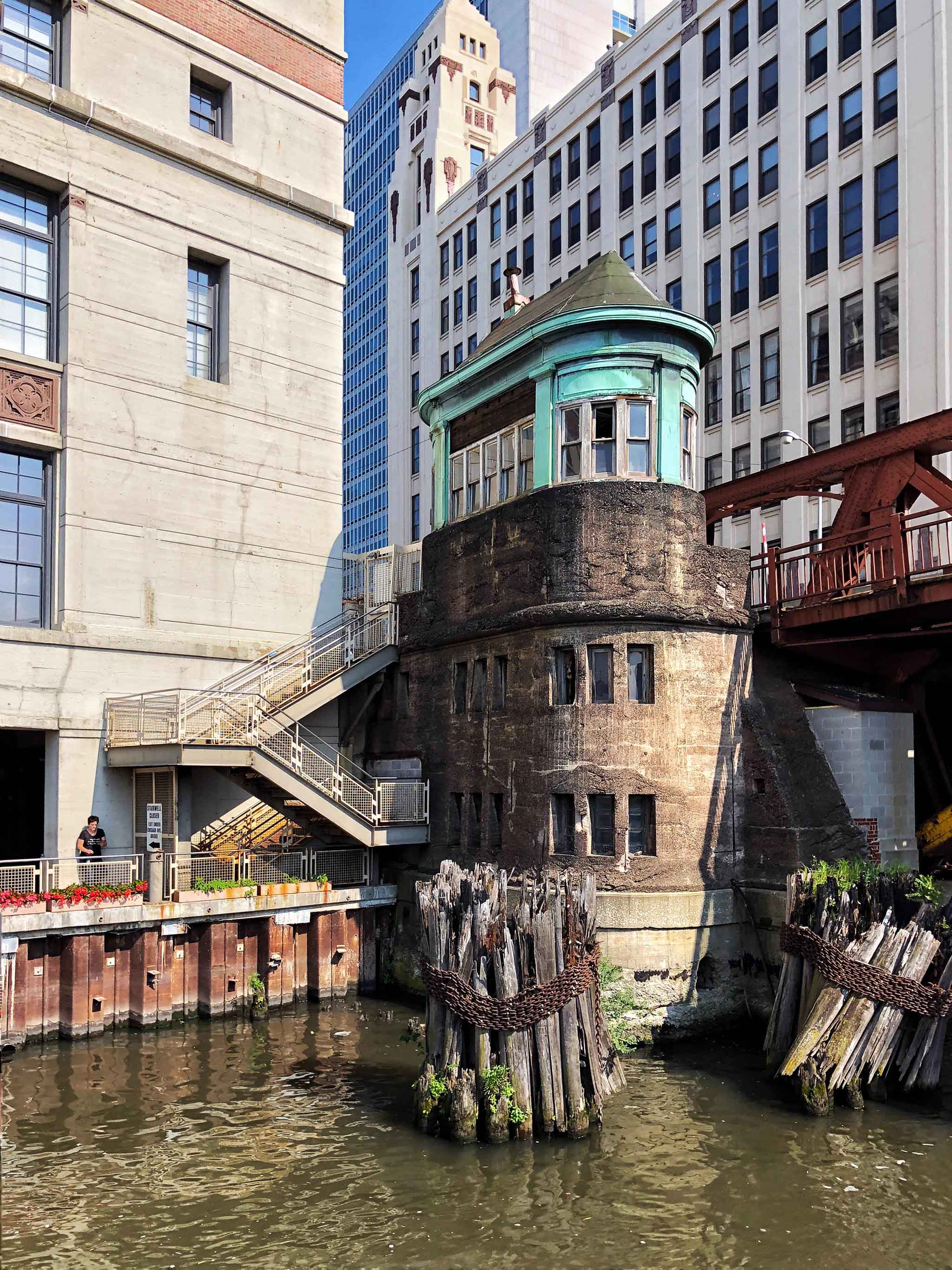 Chicago Avenue Bridge (100-years old) and bridge house shown here is set to be demolition in winter of 2018.