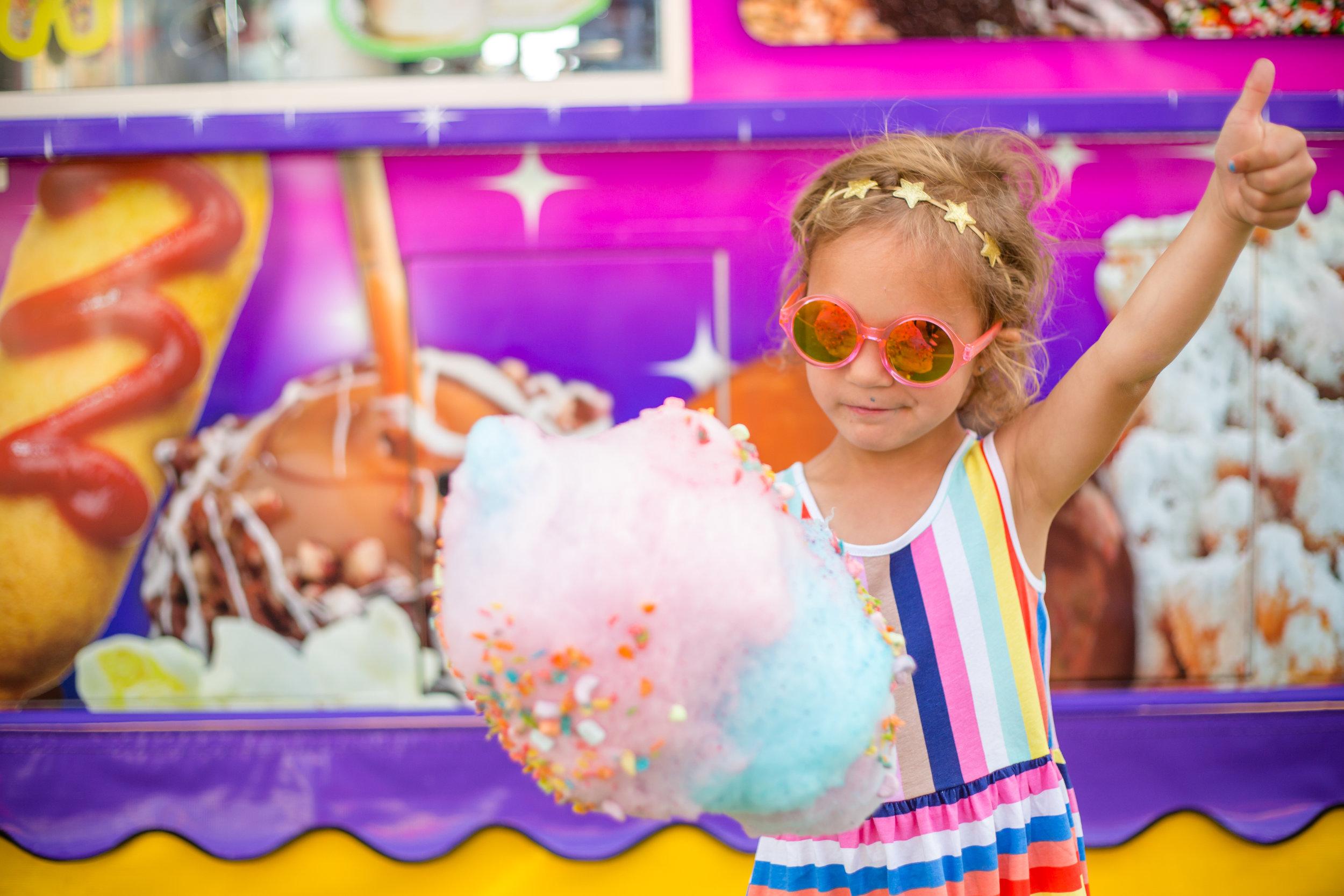 San Diego County Fair Cotton Candy
