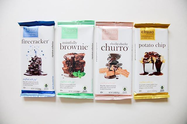 Looking for the perfect Chocolate Bars for every Easter basket you are putting together this year?  @ChuaoChocolatier was Co-founded in 2002 by Master Chef Michael Antonorsi and his brother Richard, Chuao Chocolatier is on a mission to share joy with the world through deliciously engaging chocolate experiences.  Relocating from Venezuela the brothers opened their first Chuao Chocolatier boutique in Encinitas, California. Named after the legendary cacao-producing region of Chuao (pronounced chew-WOW) located in central Venezuela.  The Antonorsi's Chocolate is part of the Antonorsi family roots; their ancestors ran a small family farm that was once an important part of the criollo cacao plantation industry.  Creative flavor combinations are at the heart of Chuao Chocolatier's decadent chocolate experience including: Firecracker, a chipotle caramel fudge truffle with popping candy, a hint of salt, and dark chocolate and Salted Chocolate Crunch, a dark chocolate bonbon filled with toasted Panko bread crumbs, olive oil ganache with a touch of sea salt.  #craftedwithjoy #selfcare #chocolatebar #fairtradecertified #springtime #churro #potatochip #firecracker #brownie