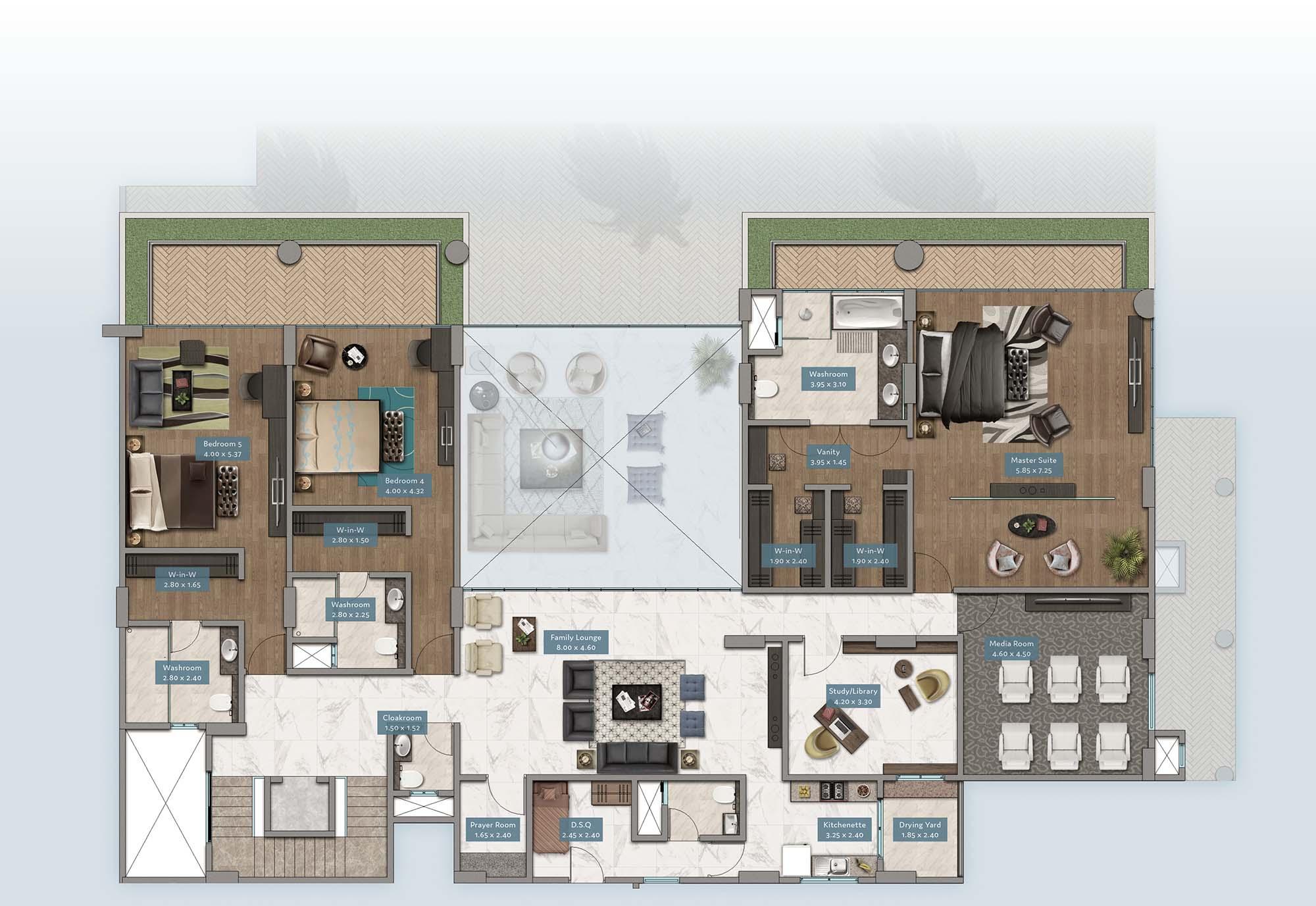 Kabete View Garden Villa | Floorplan | No. GV3 - Level 2