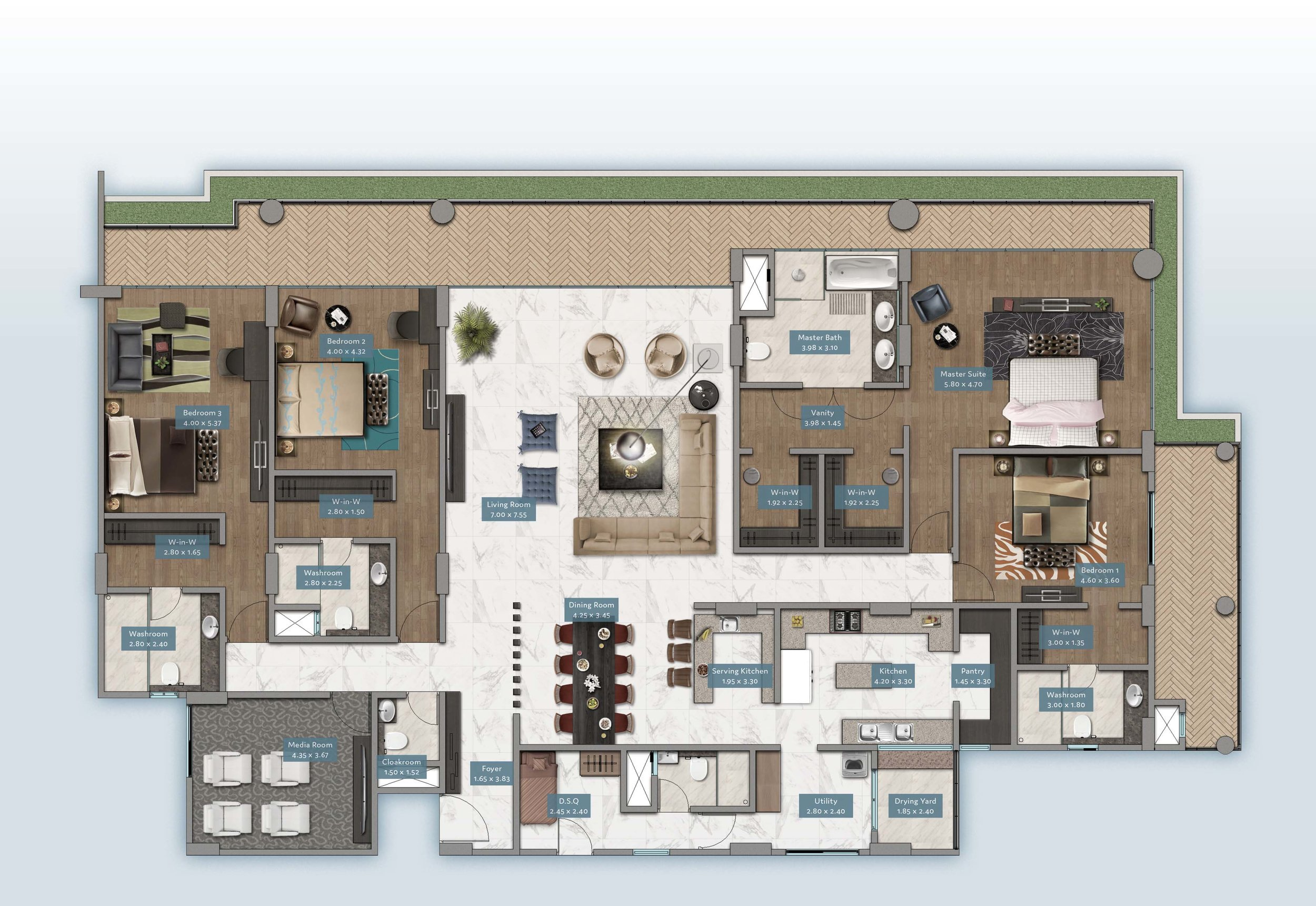 Kabete View Home | Floorplan | No. 3 & 4