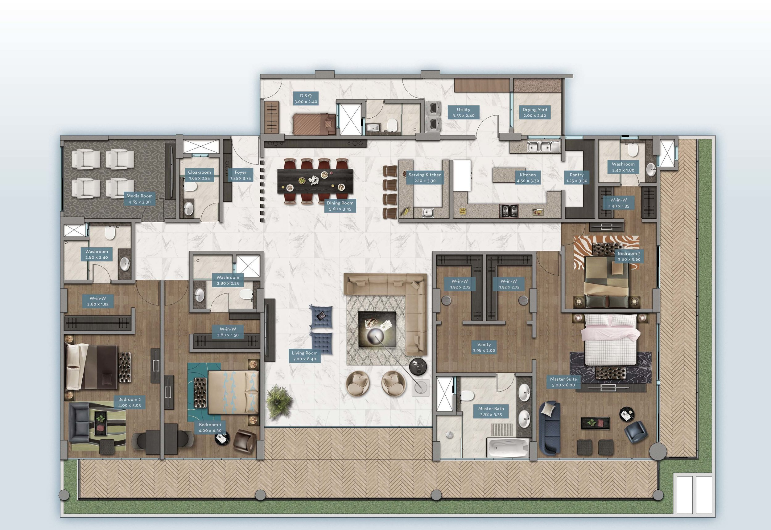 Shanzu View Home | Floorplan | No. 1 & 6