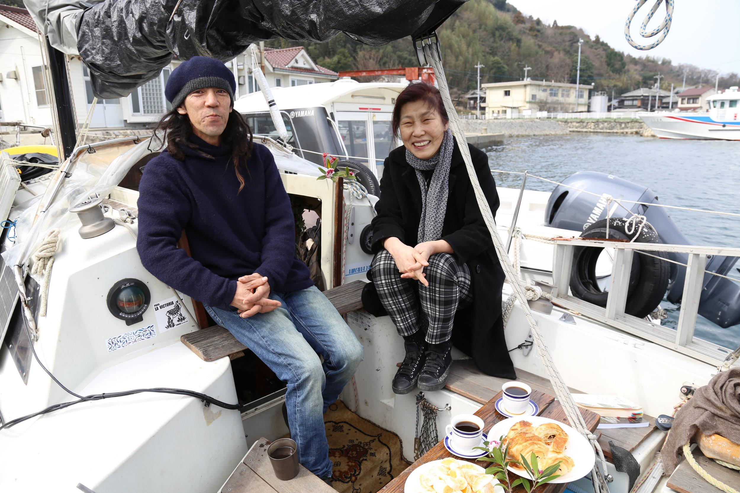 Kyoko (Violinist) & Ryota (Rolfing Master & Sailor)