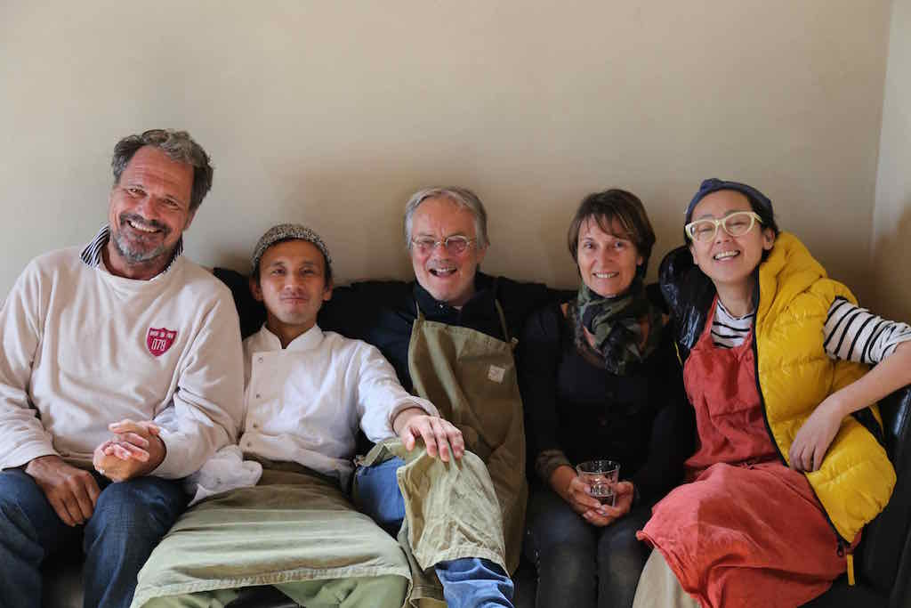 In the middle, Bruno (French Chef) & Diane (Doctor) -surrounded by Gilles, Tatsuya (Italian Chef) and Akemi (EAT_UMI Restaurant Owner) May 2019