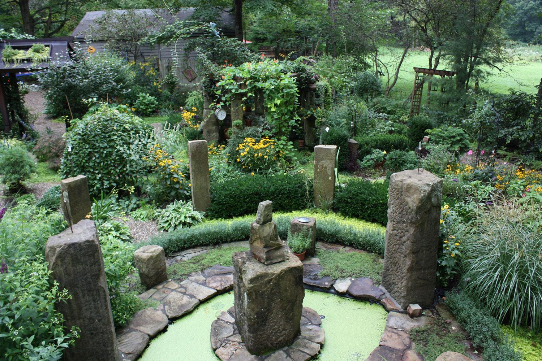 Vesica Piscis Sun Clock Garden