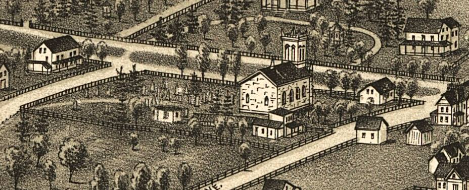 detail from a lithograph of White Plains, c.1887
