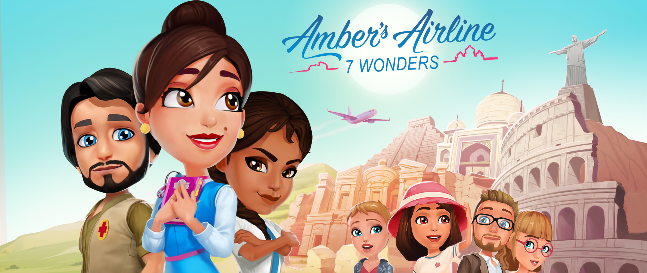 Amber's Airline : 7 Wonders - Have you always dreamed of travelling to the 7 New Wonders of the World? Now you can! Join Amber and the girls as they fly around the world!
