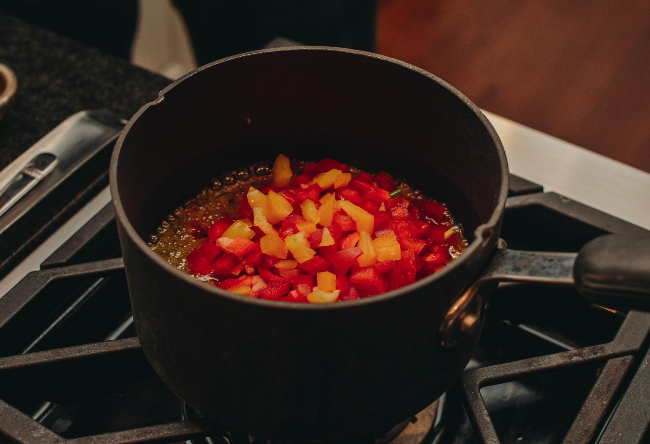 bell peppers in vinaigrette