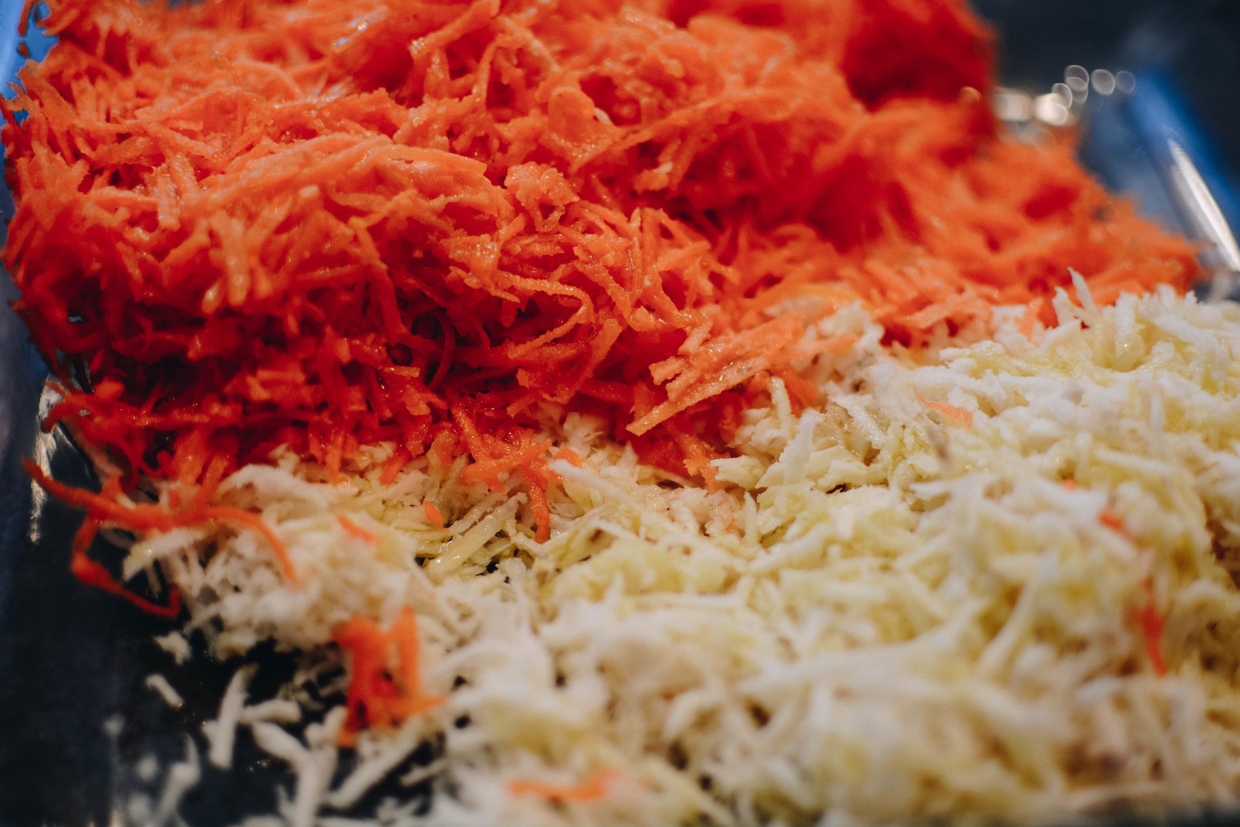 carrot parsnip shreds