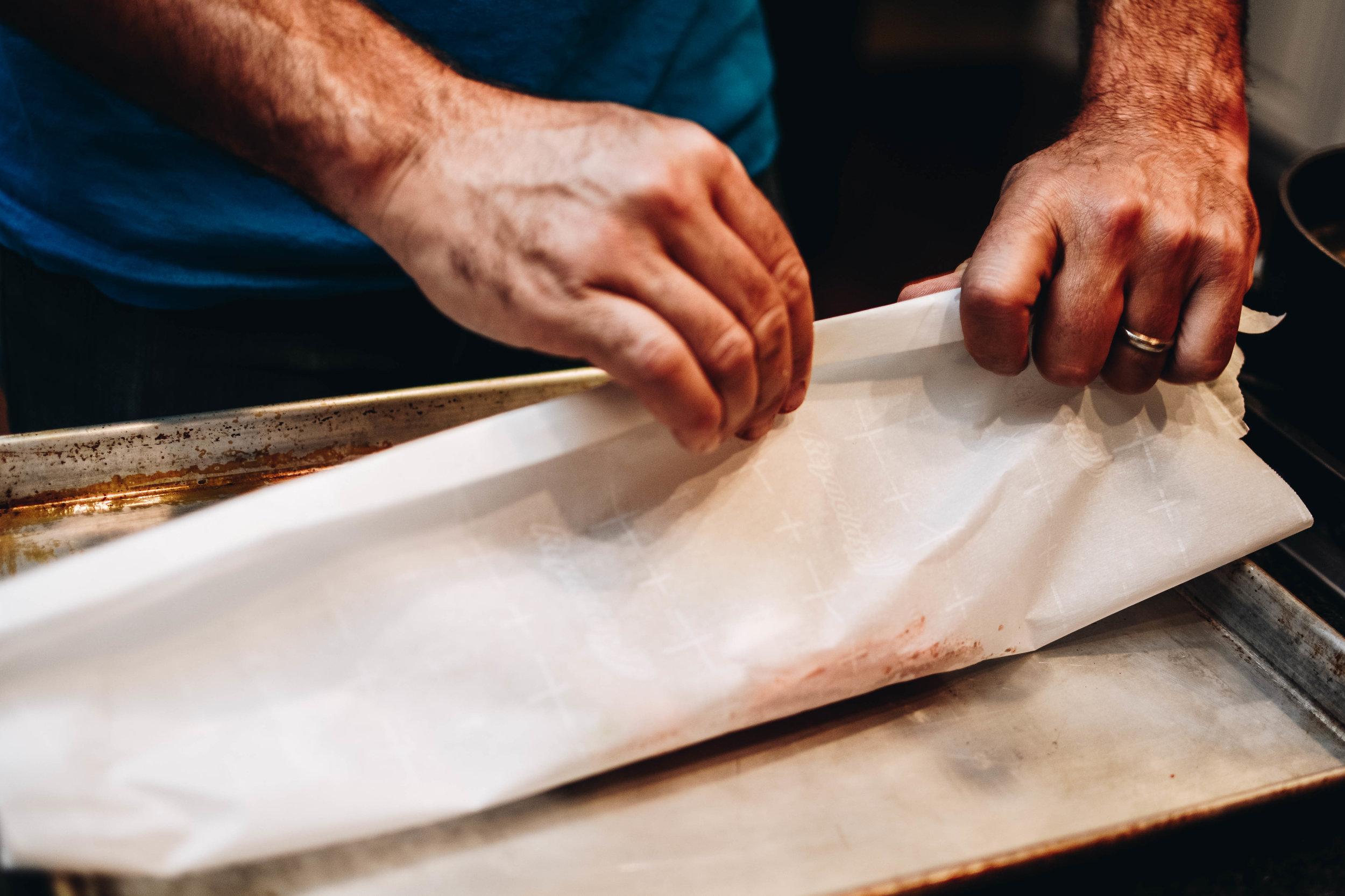 parchment wrap
