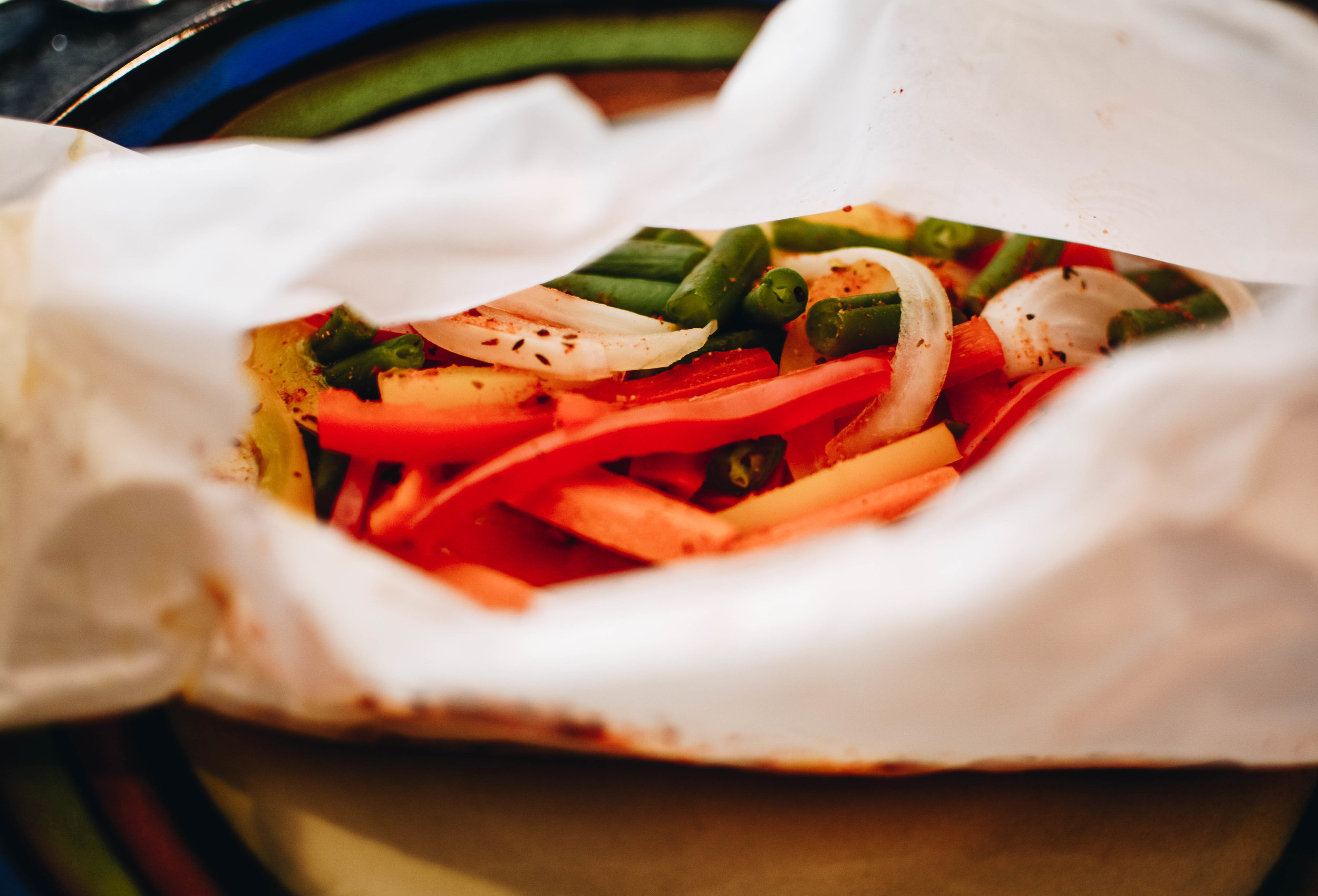 snapper cartoccio veggies