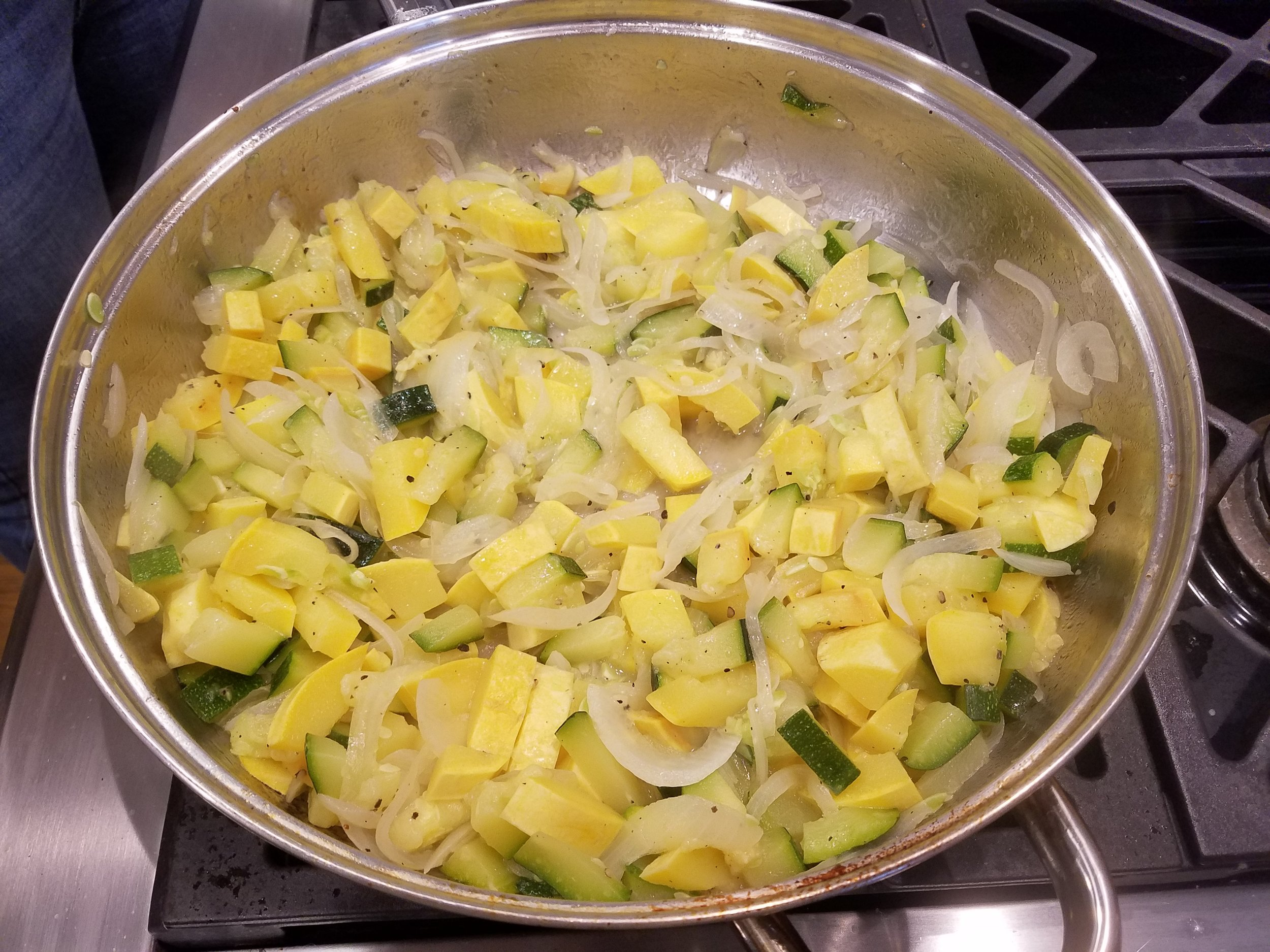 zucchini and onions