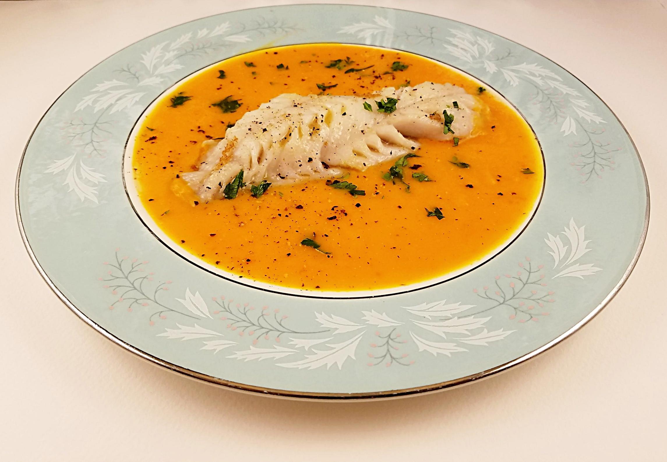 Carrot puree rockfish