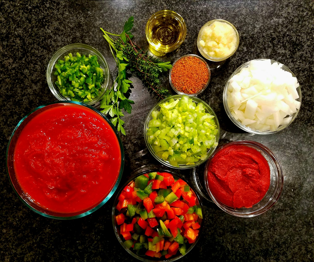 tomatoes paste bell peppers garlic onion jalapeno olive oil