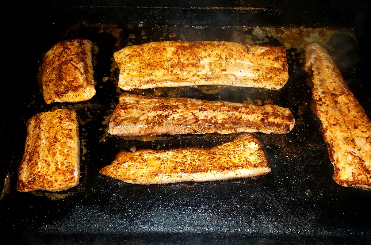Blackened Mahi Mahi on the cast iron griddle. Why suffer with boring meals when you don't have to?