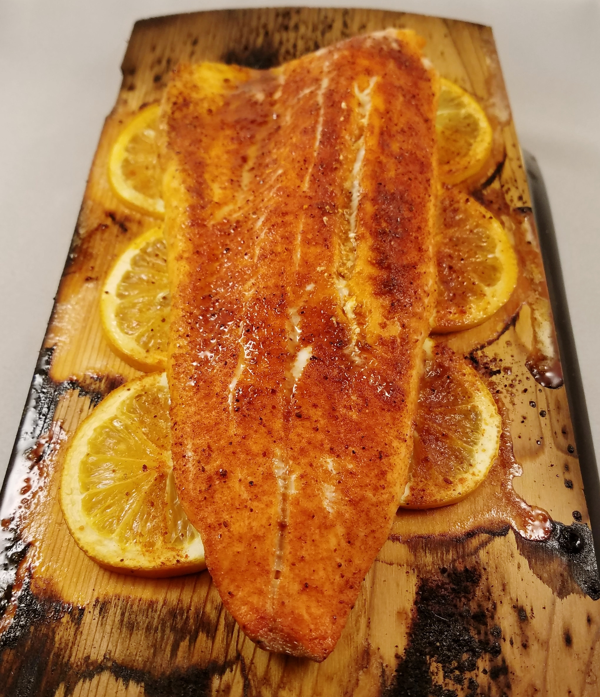 A beautiful farm-raised rainbow trout from Clear Springs Foods