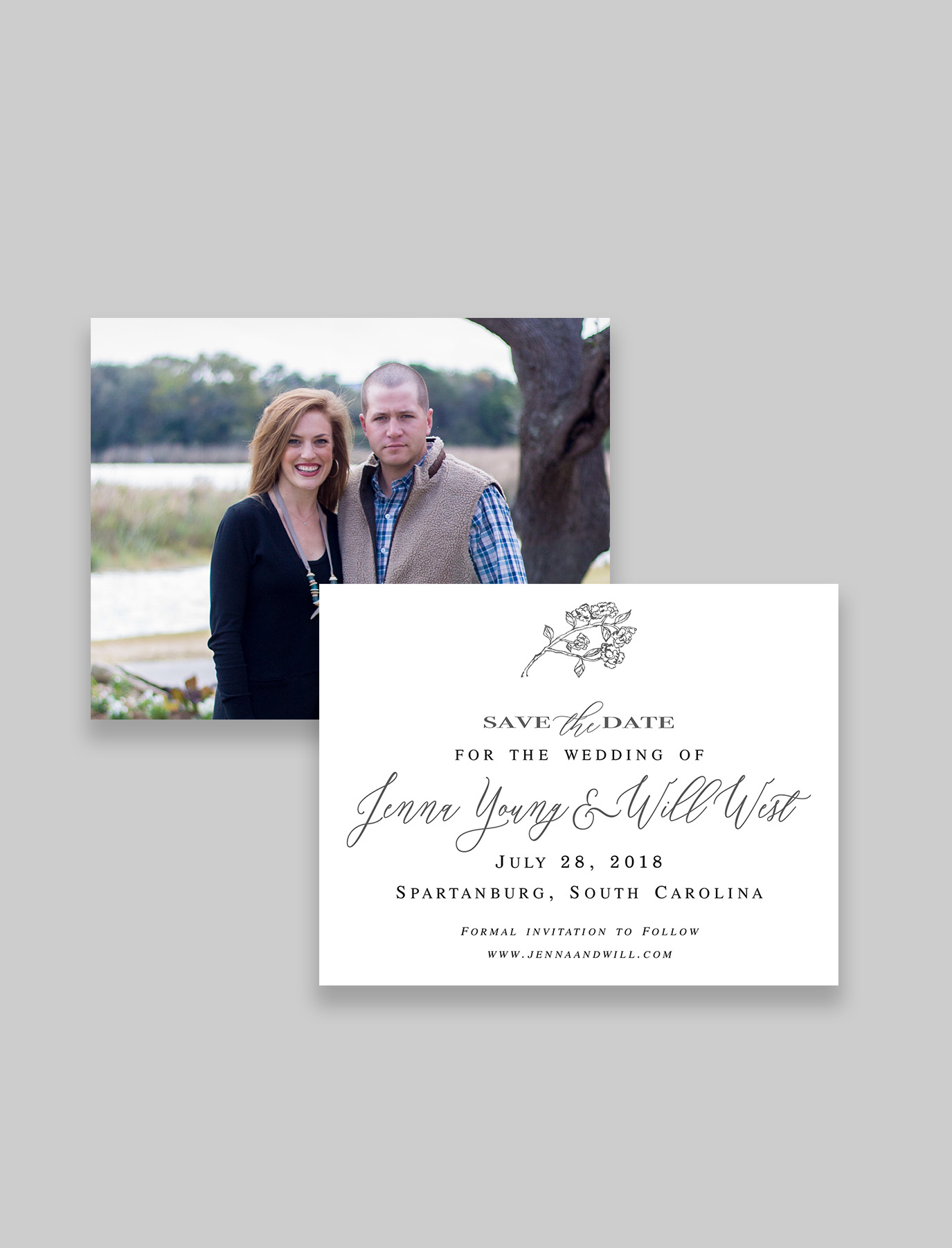The Hydrangea Suite Save the Date & Envelope