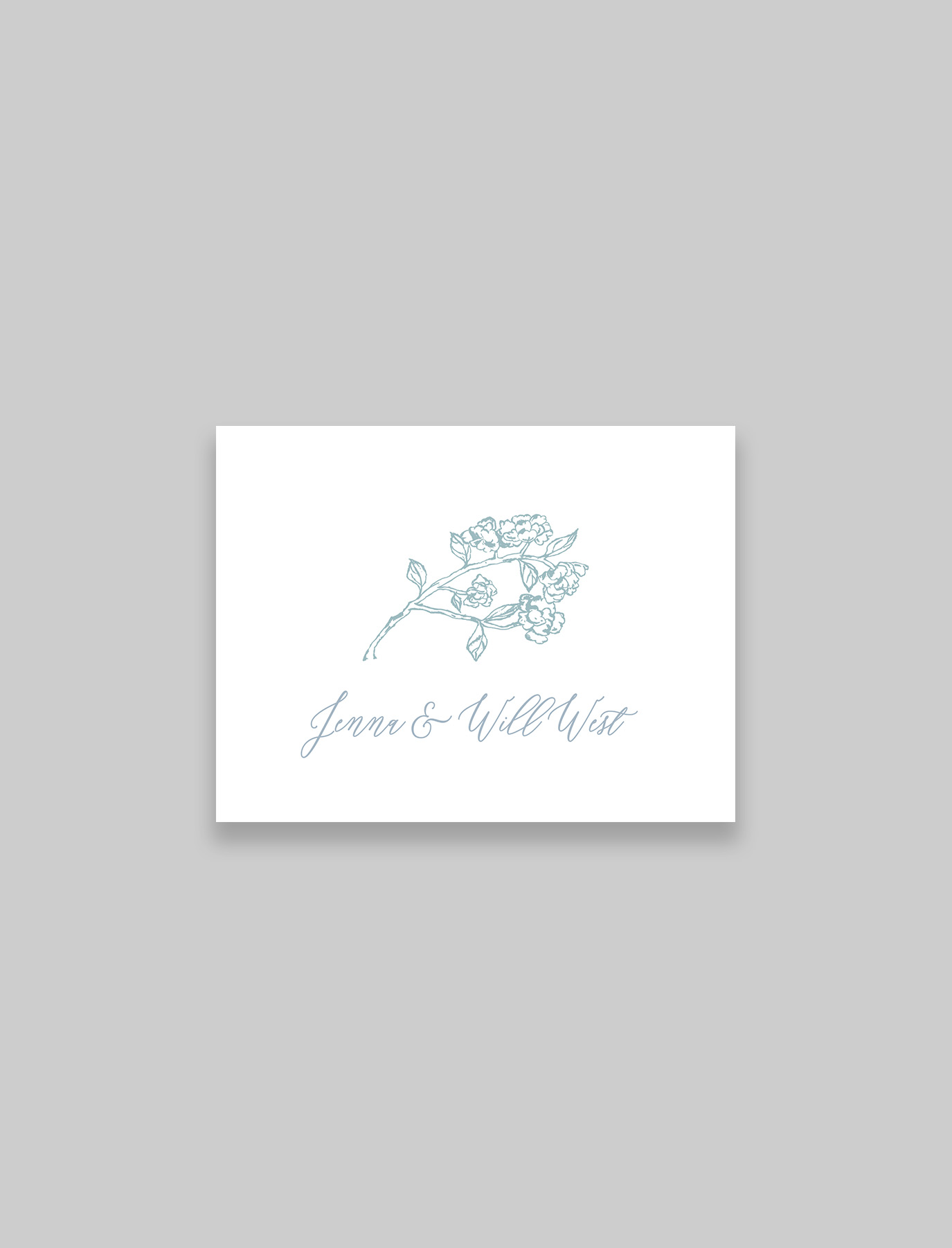 The Hydrangea Suite Foldover Thank You Notes