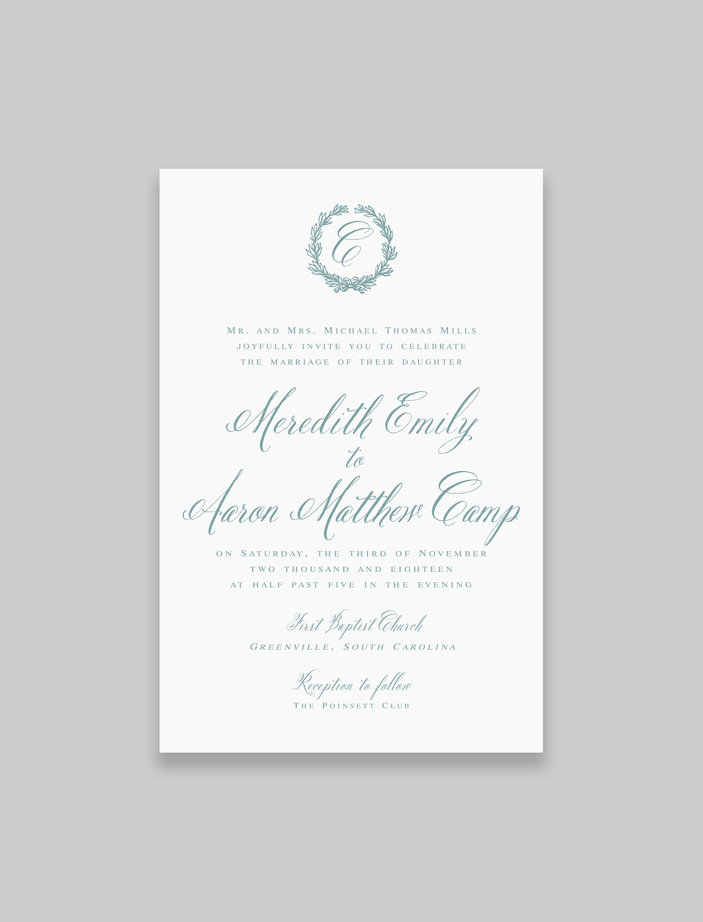 The Virginia Suite Invitation with Inner and Outer Envelope