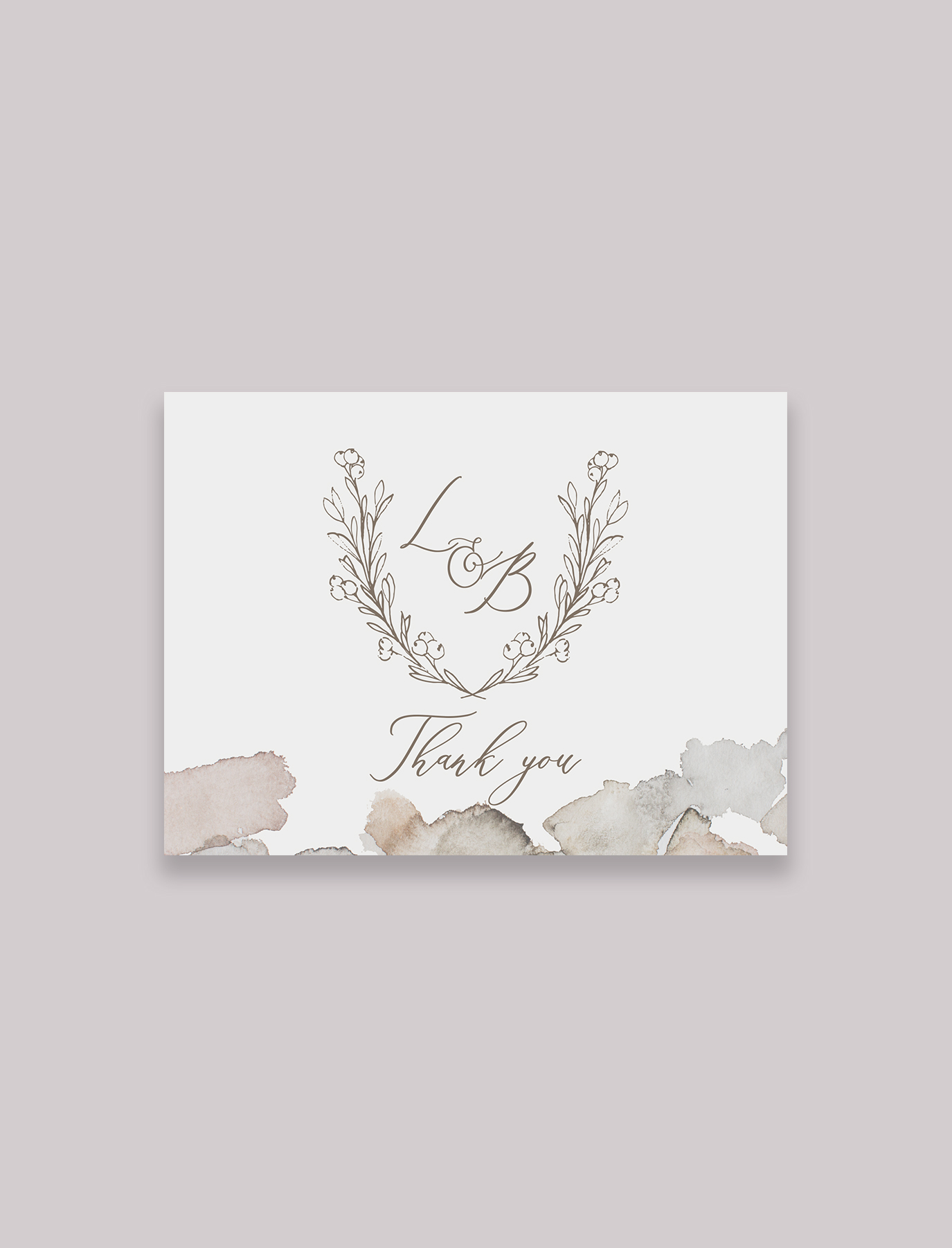 The Julia Suite Fold-over Thank You Notes