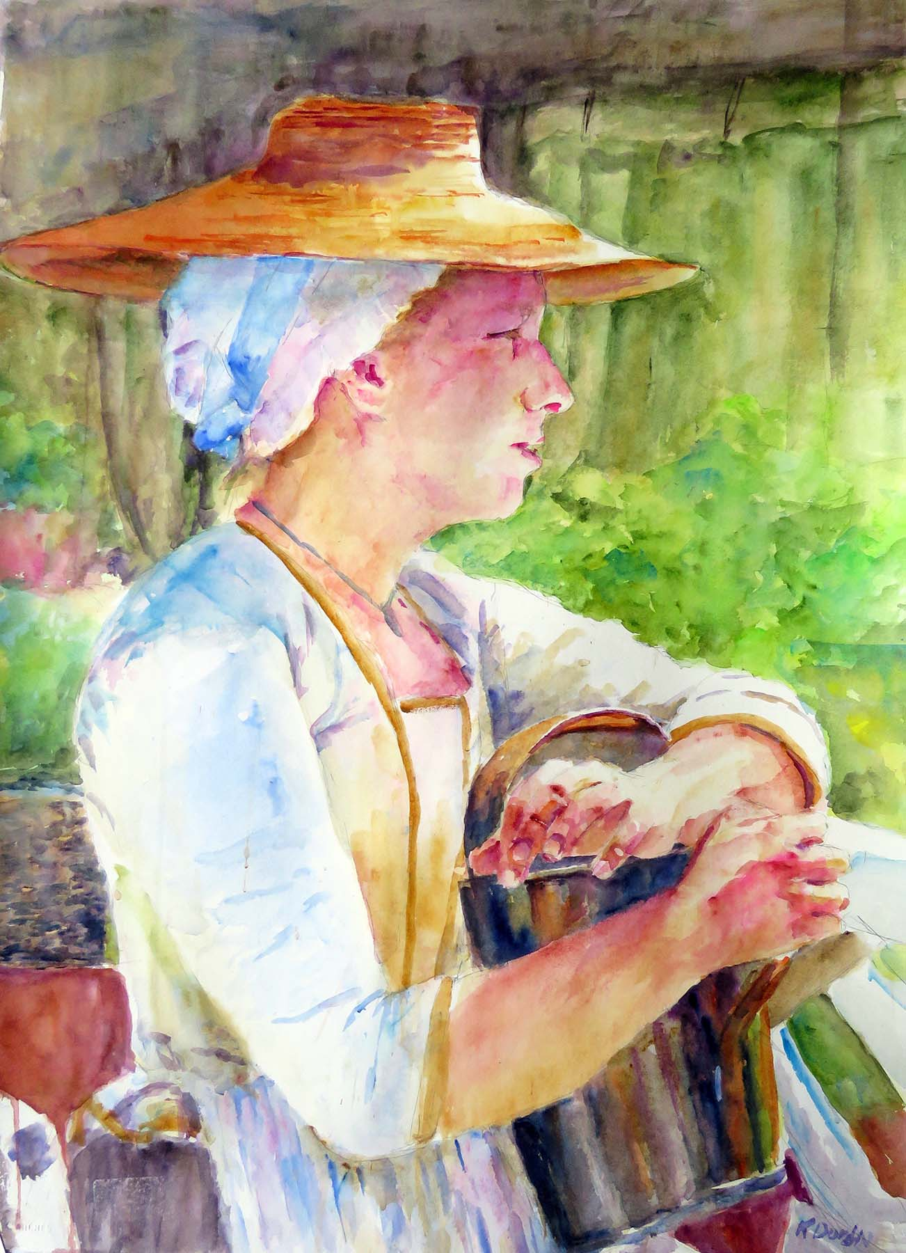 The Watering Can, Watercolor Society of Alabama 2019 Georgia Watercolor Society Award