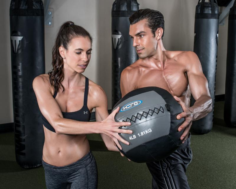 Amy and Daniel pass a Hero Strength Wall Ball back and forth for a core workout like no other. Our Wall Balls begin at the 4 lb. weight and go up to 30 lbs.