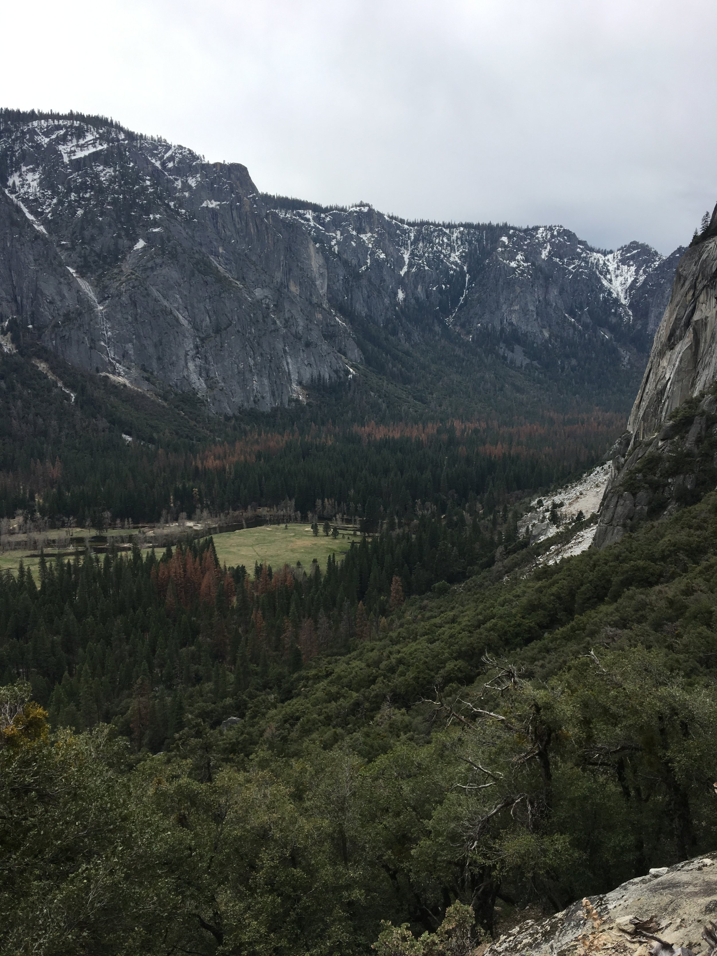 Views from the Yosemite Falls Trail