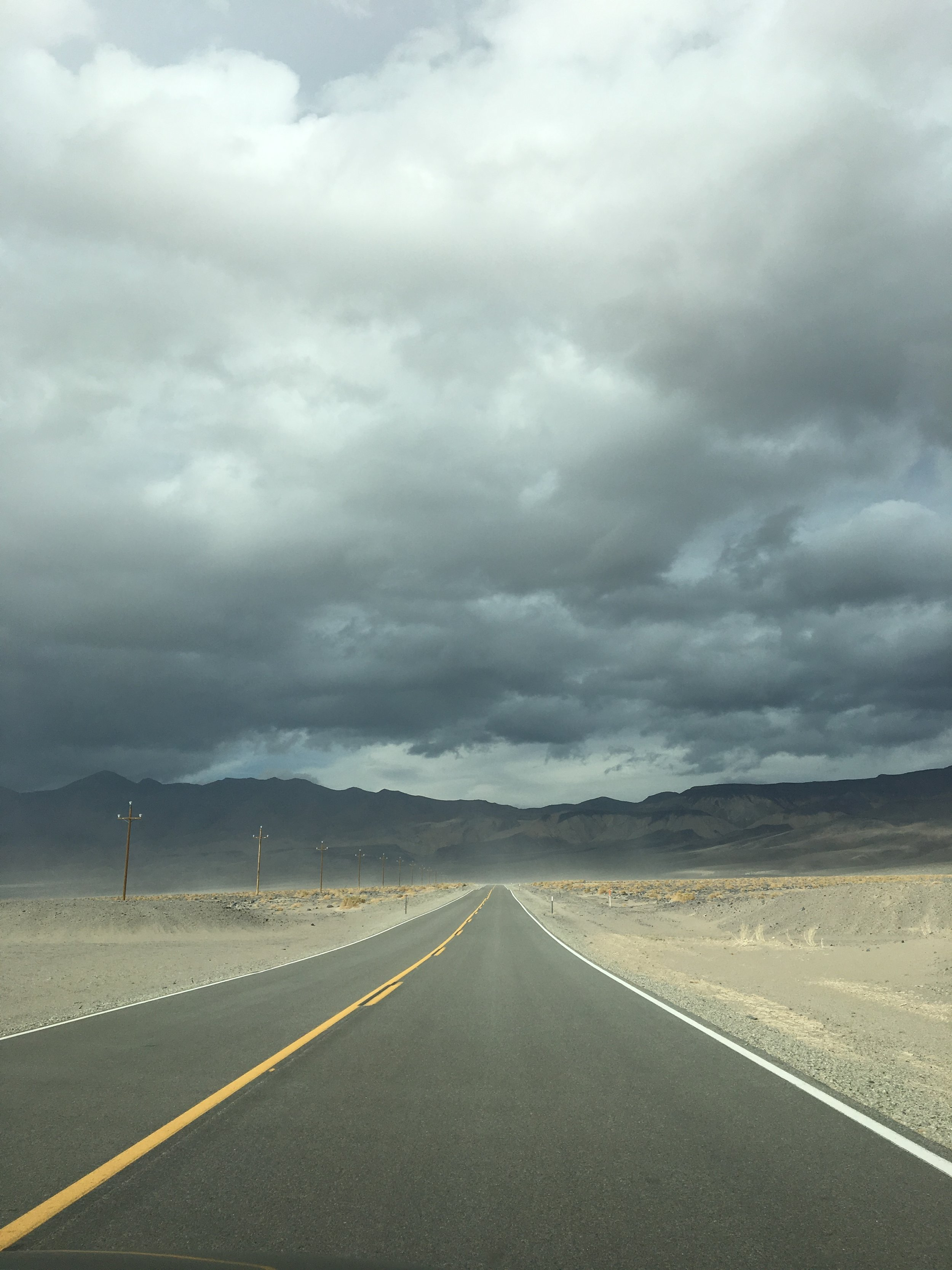 The sandstorm we drove through on our way to Death Valley from Yosemite!