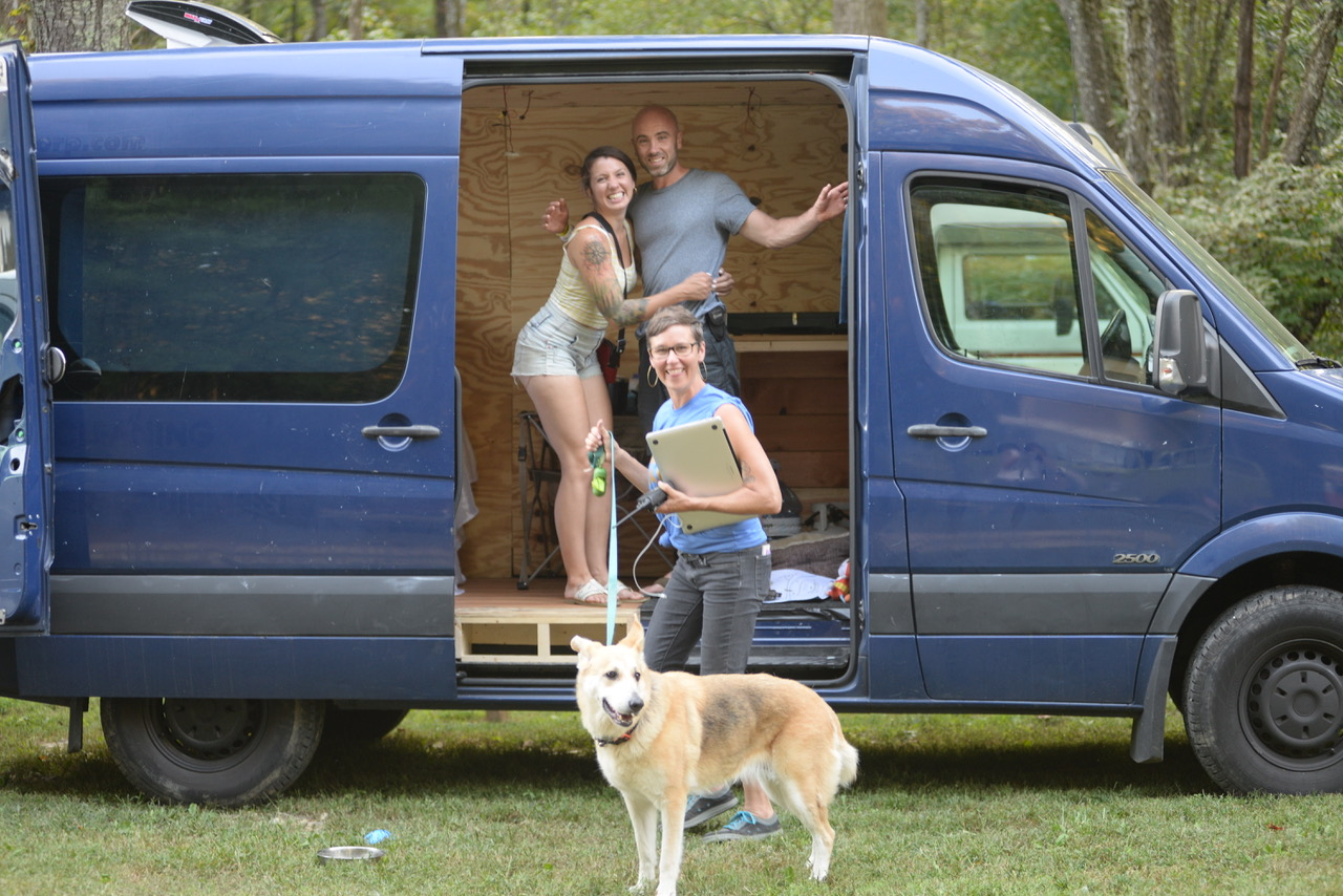 With the magician behind the entire Asheville Van Life Rally, Micah Pullyen of Catalyst Collaborations!  Photo by Alice Martin Arthur