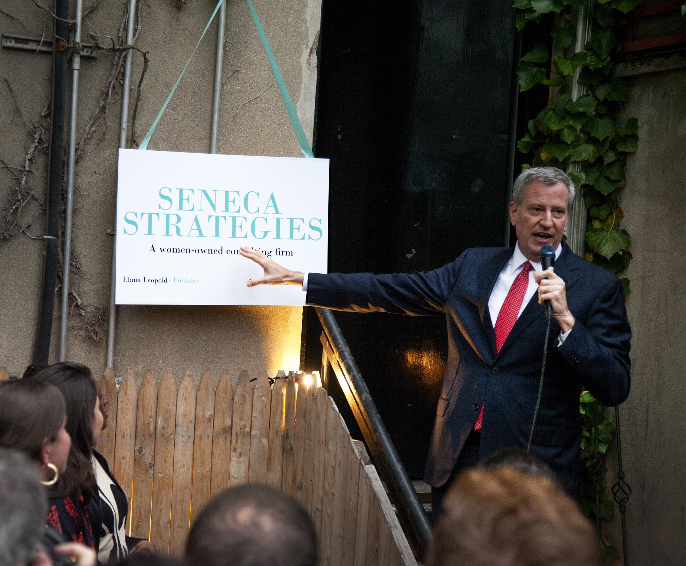 Copy of Mayor Bill de Blasio lends his support to Monica Klein & Elana Leopold of Seneca Strategies