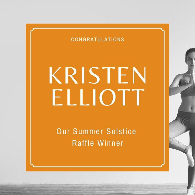 Kristen is taking home a @huggermuggeryoga mat and a #breathe tote packed full of @solsticeyogabarre goodies (and gift certificate) as well as some locally crafted items from @thebeehiveatl!  Congratulations! 🥳