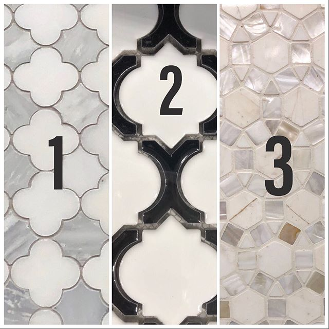 Help us pick out tile!  We're having a custom wood reception desk built soon, and we may add some decorative tile to the front.  Vote for your favorite (1-6) in comments below. . . . #tilestyle #flooranddecor #diy #yogastudio #barrestudio #pilatesstudio #studiodecor #studiostyle #homeimprovement #atlyogis
