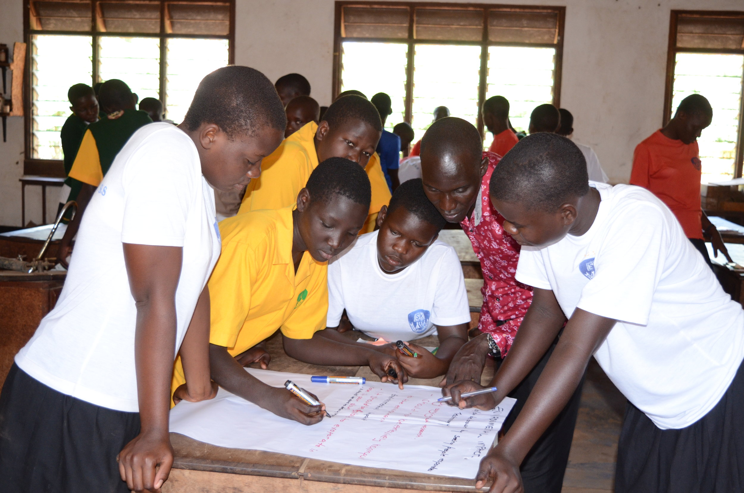 Student engineers at ST. Katheine girls school planning out their technology.JPG