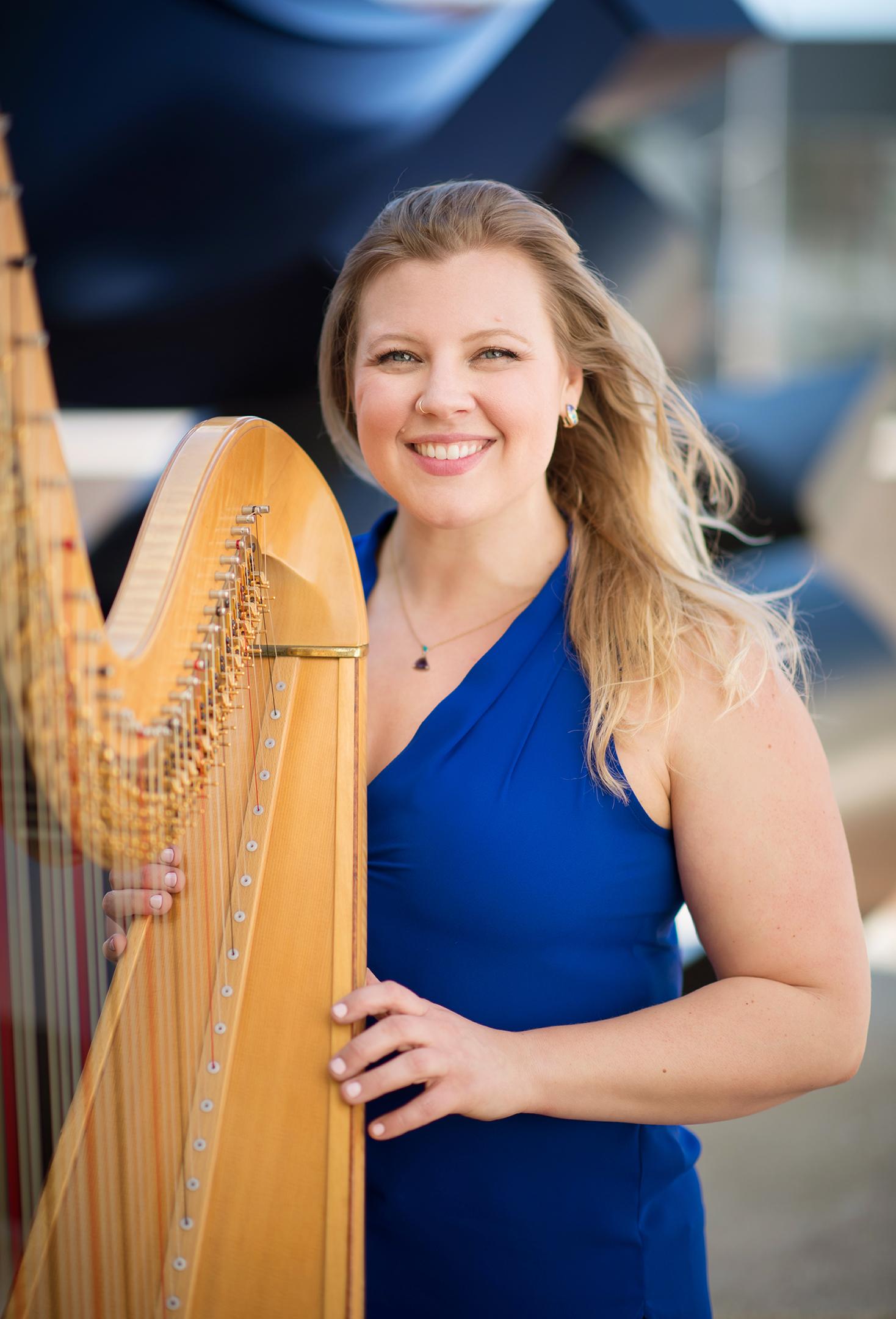 Meredith Clark, harp
