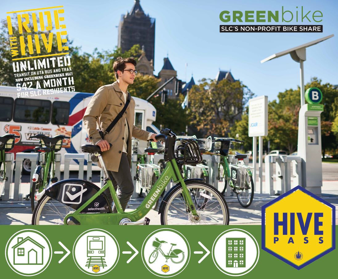 GREENbike now included for free with active Hive Passes