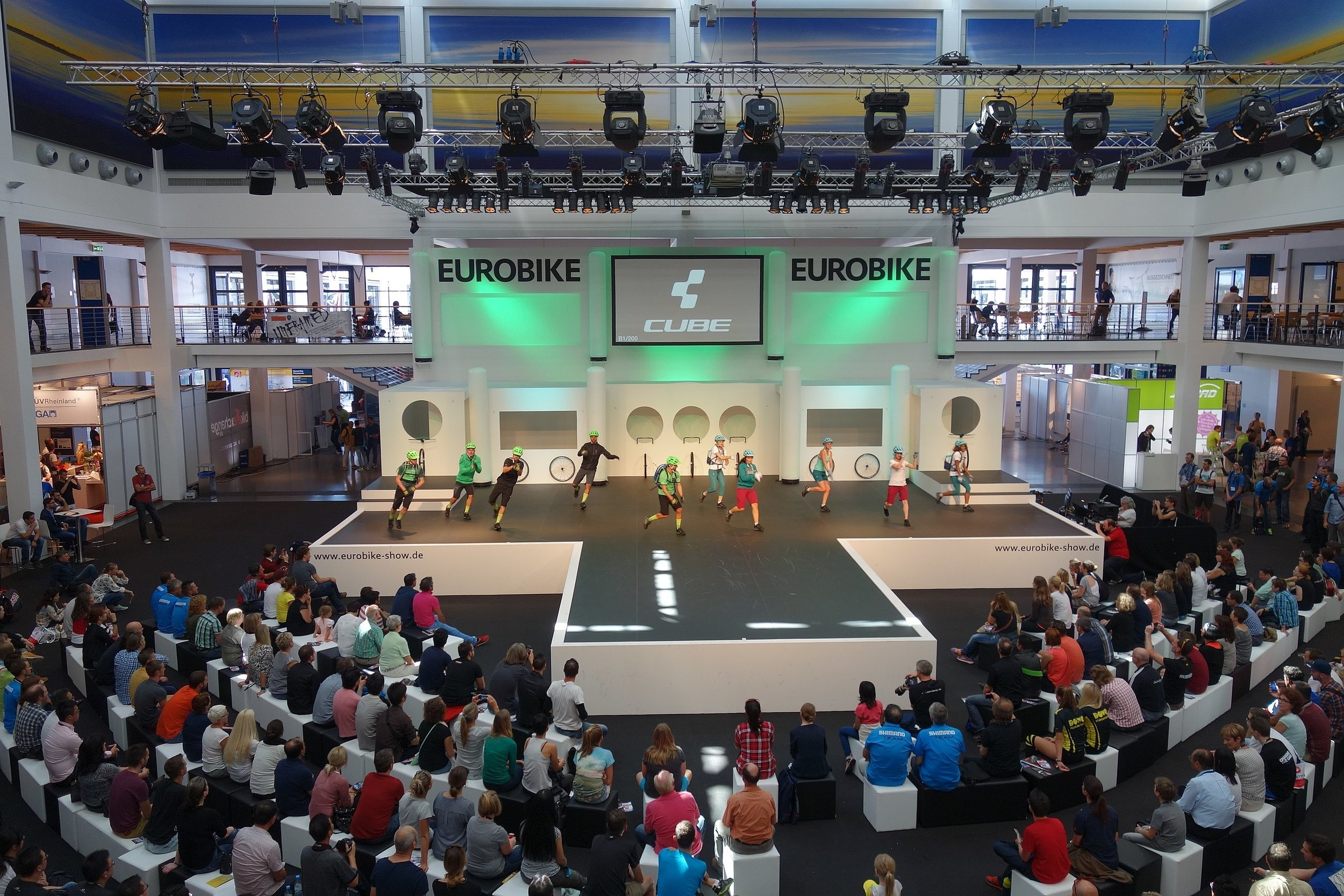 Just look at what you are missing! It's a Eurobike cycling fashion show!