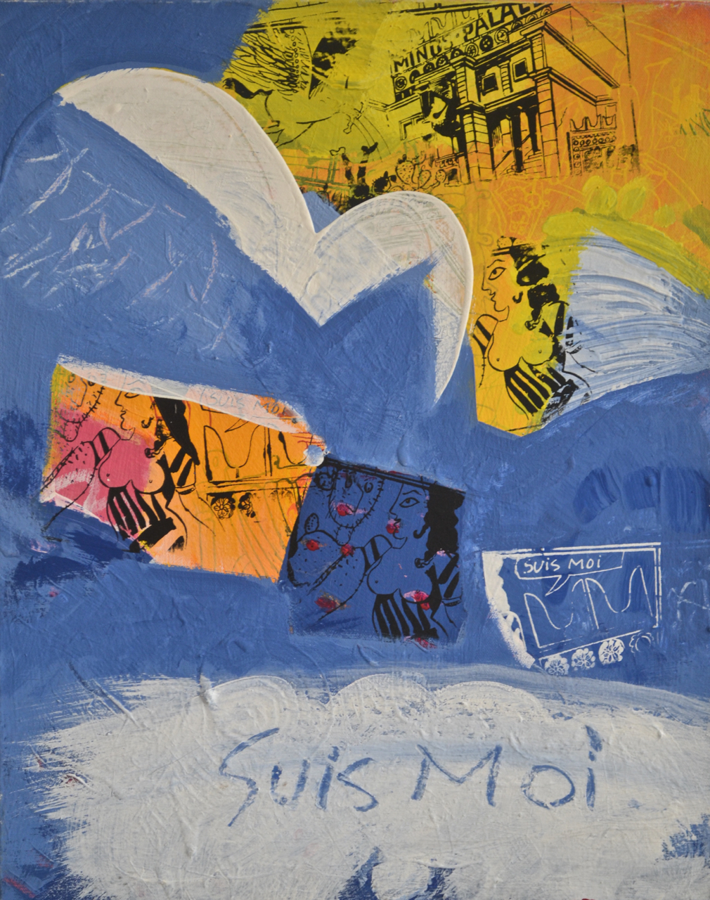 Suis-Moi,  acrylic on canvas, 2008,19 x 20""