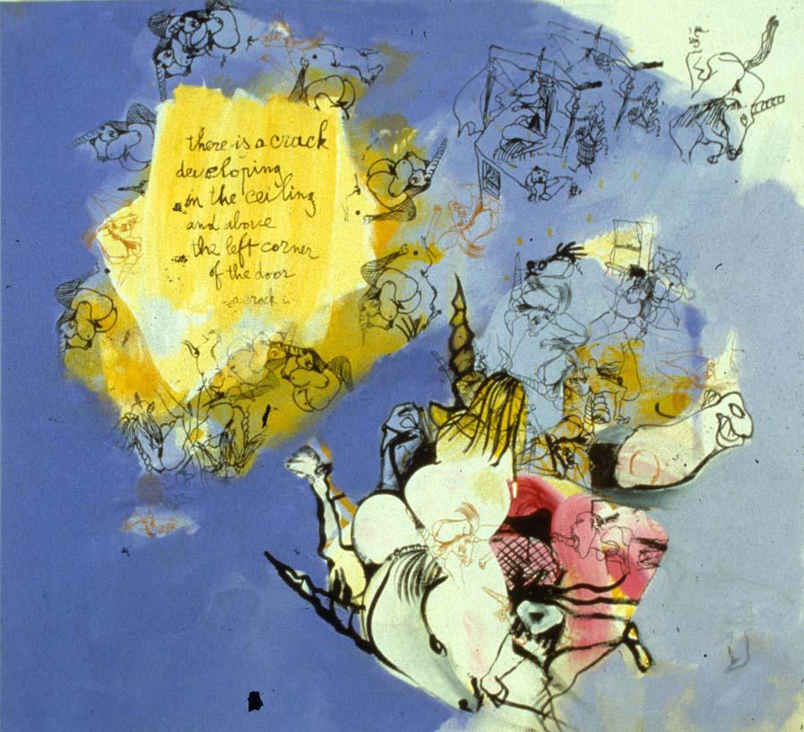 The Dream of The Unicorn, 1997 , acrylic on canvas, 50 x 55