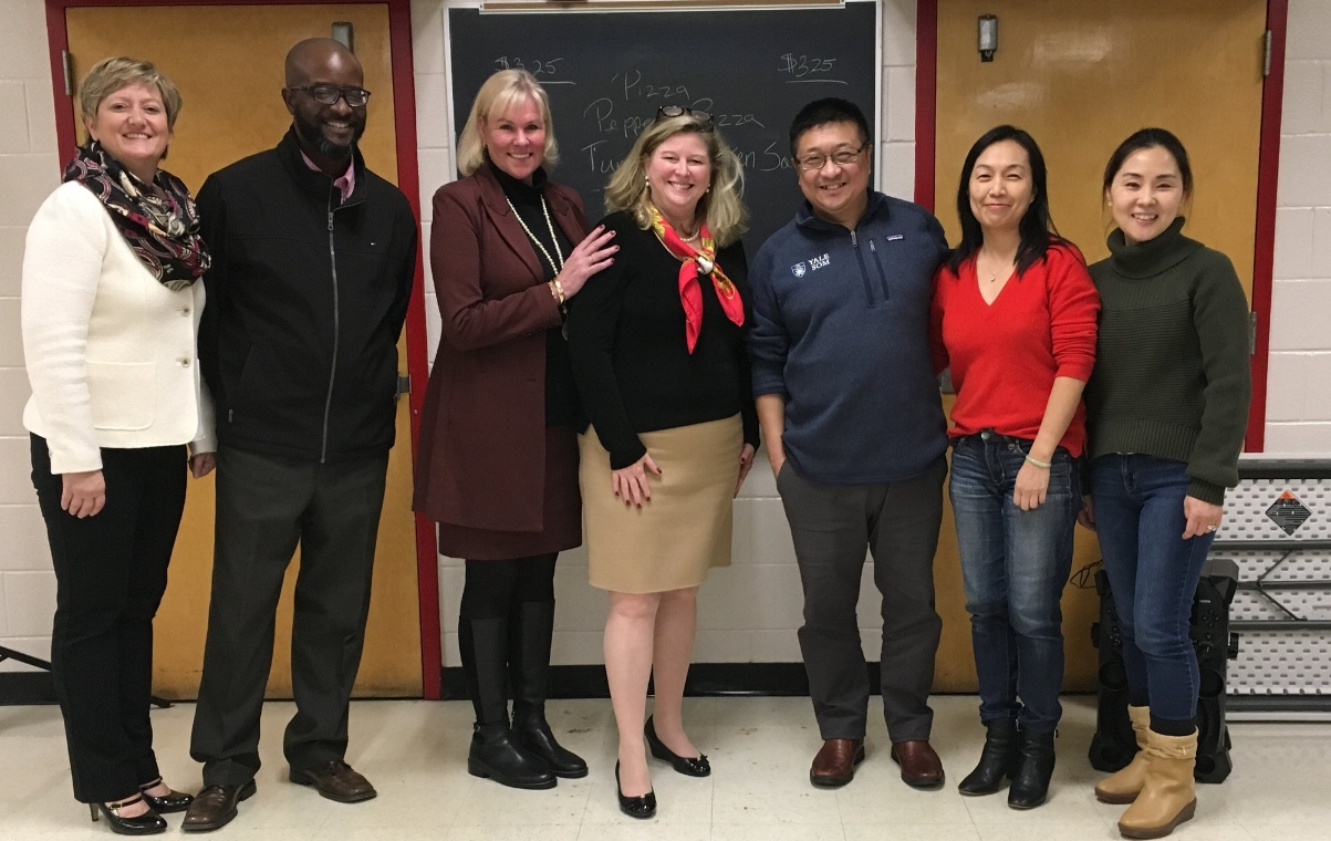 Missy and I are pictured here with leaders of the PTSA and PAGs