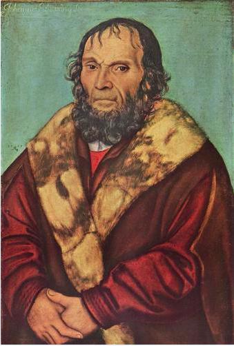 Lucas Cranach the Elder, Portrait of Magdeburg Theologian Dr. Johannes Schöner (1529).