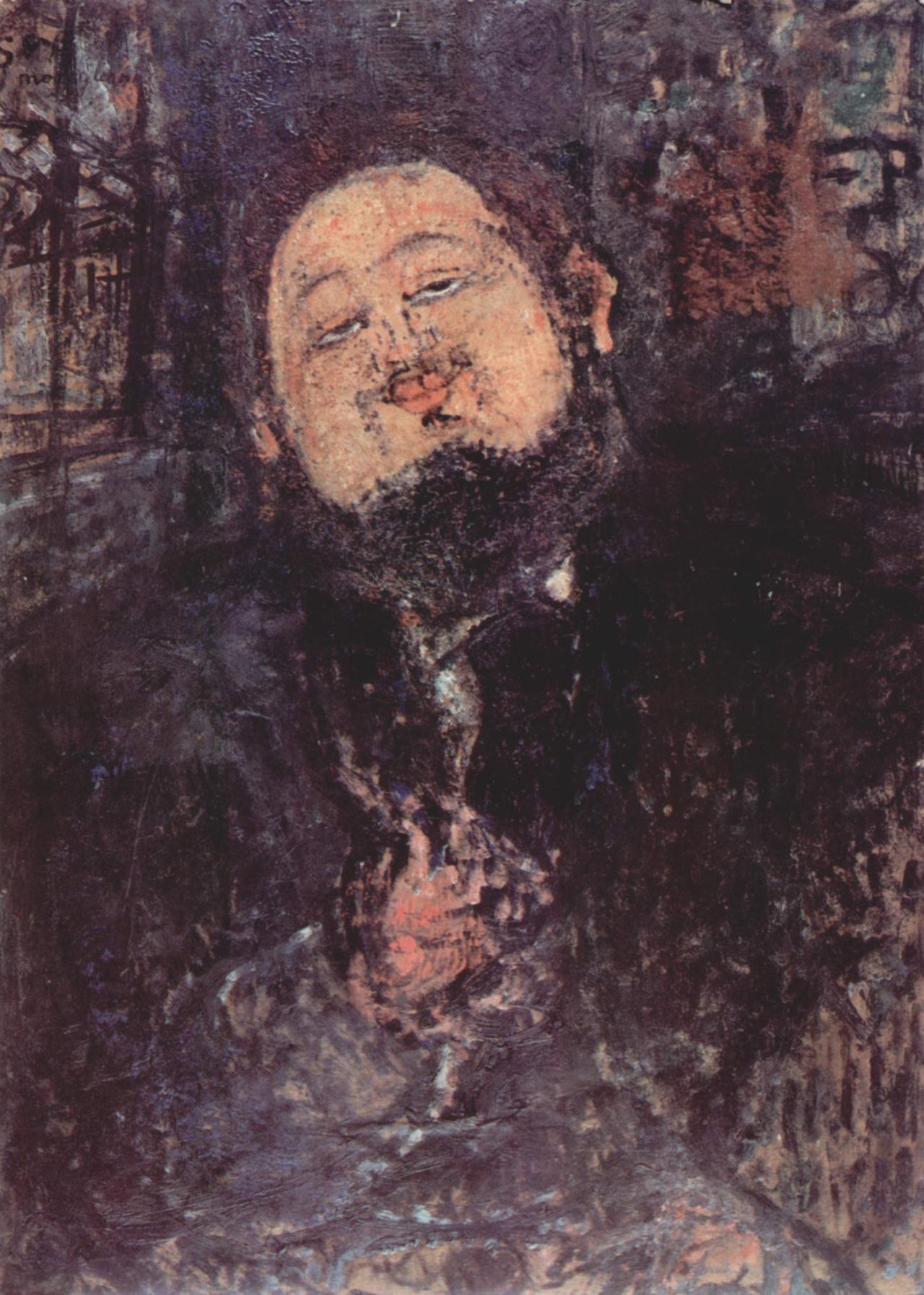 Amedeo Modigliani, portrait of Diego Rivera (1914).