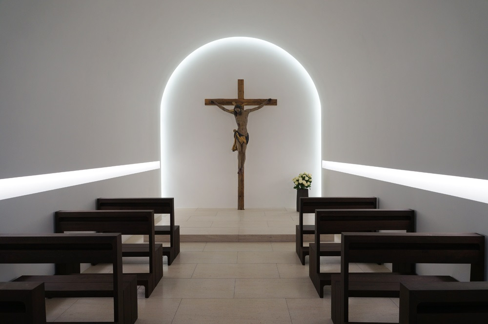 John Pawson's St. Moritz church.
