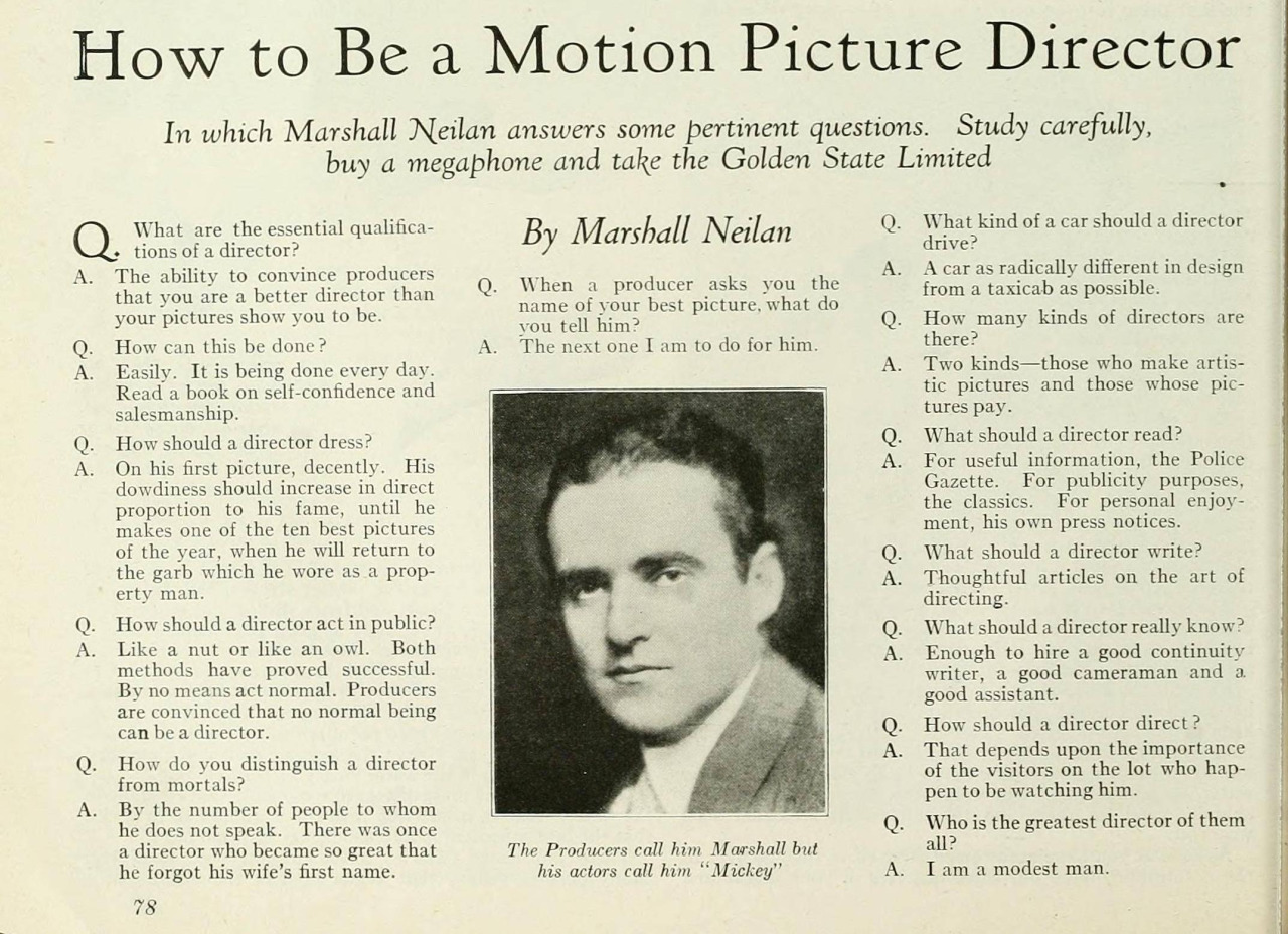 "Photoplay, September 1925 , via  Reddit .    ""I am a modest man."""