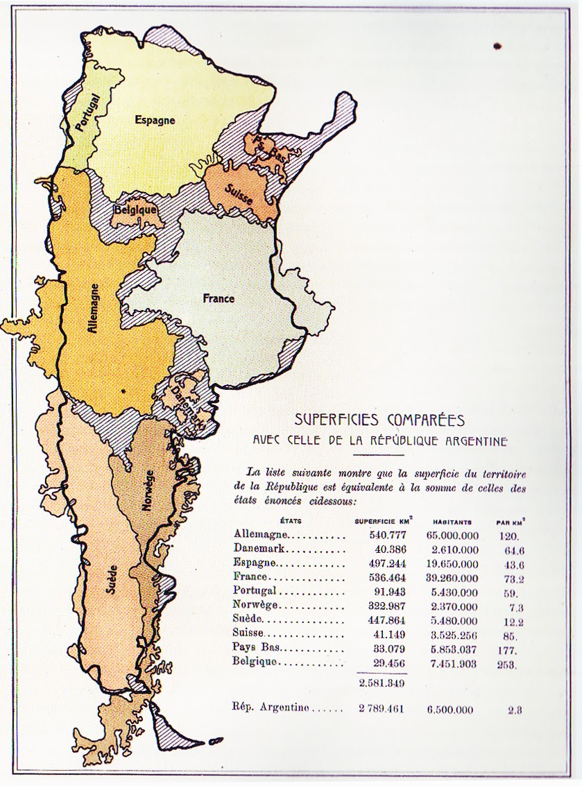 mapsontheweb :     Argentina compared to European countries.