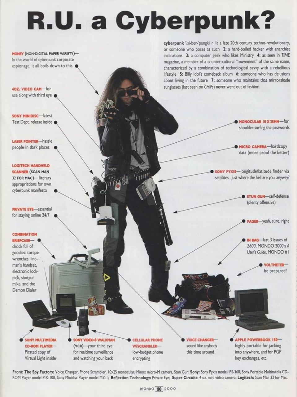 sfadj :     R.U. a Cyberpunk?     Yes.