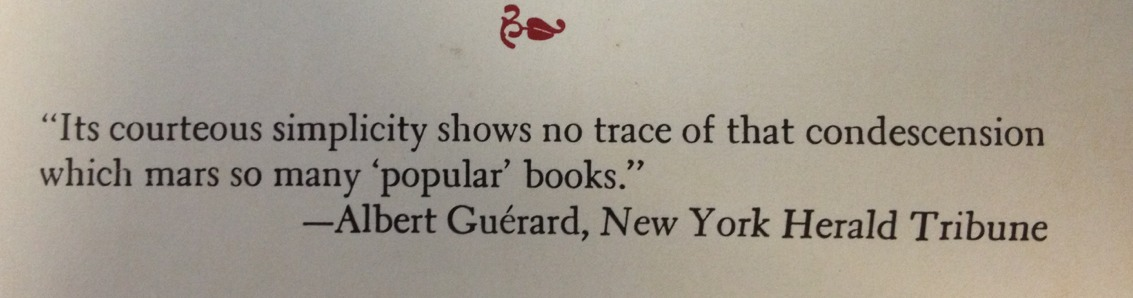 "Great dust jacket blurb for Mario Pei's ""The Story of Language."""